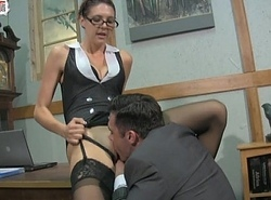 Deviant Kingpin Sadie Holmes Female dom Cook jerking Irrumation