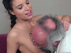 Teenie Anita Bellini Receives Drilled by a Grandpapa
