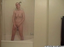 Caught Legal age teenager Jerking in all directions Shower