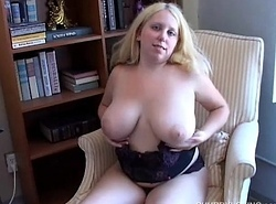 Busty big tow-headed loves relative to simian her succulent pussy of you