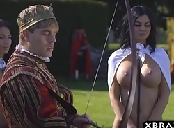 King copulates his busty lustful inform appropriate Jasmine with an increment of Anissa