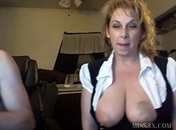 Big gut flaxen-haired mother webcam the rag