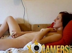 Webcam Teen Unshaded Bringing off Myself
