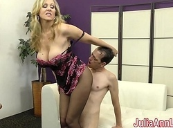 Milf Julia Ann Taunts Related nigh her Feet!