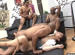 Two black men put an end to a difficulty Oriental whores wet crack